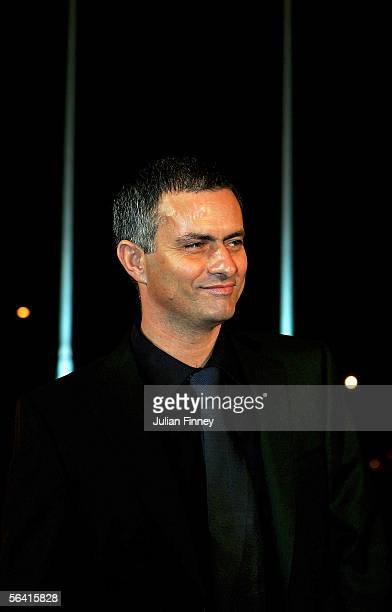 Chelsea manager Jose Mourinho arrives at the BBC Sports Personality of the Year Awards on December 11 2005 at the BBC Television Centre in London