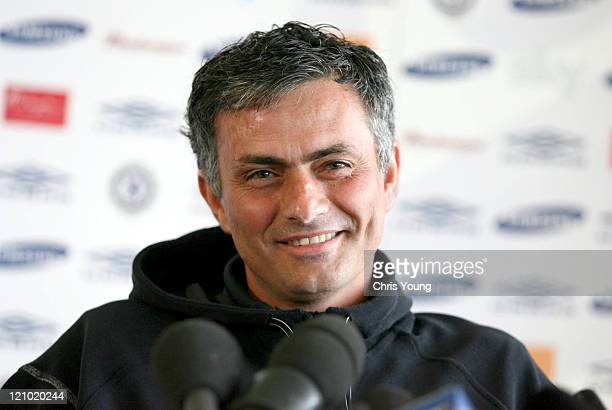 Chelsea Manager Jose Mourinho Friday 7th April 2006 during a press conference at the club's training ground in Surrey