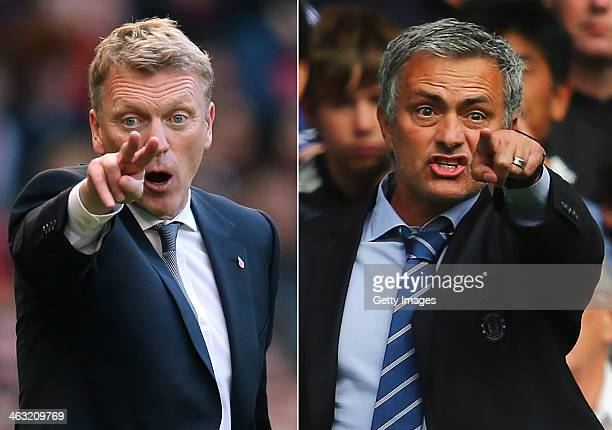 IMAGES Image Numbers 185933325 and 176736916 In this composite image a comparison has been made between David Moyes Manager of Manchester United and...
