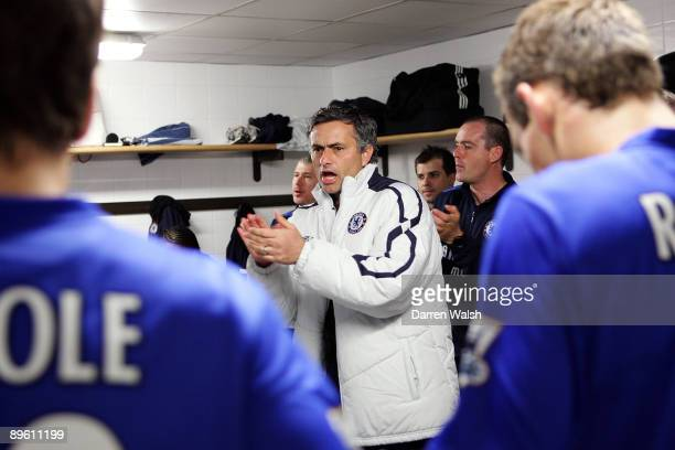 Chelsea manager Jose Mourinho in the team's dressing room before the FA Barclays Premiership match between Newcastle United and Chelsea held on May...