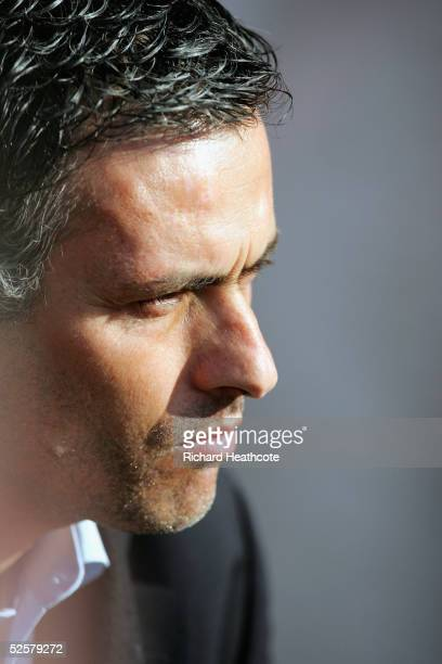 Chelsea manager Jose Mourinho looks on during the FA Barclays Premiership match between Southampton and Chelsea held at St Marys Stadium on April 2...