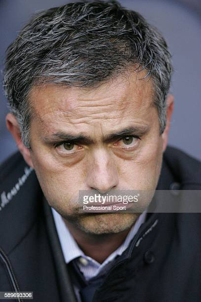 Chelsea manager Jose Mourinho looks on prior to the Barclays Premiership match between Tottenham Hotspur and Chelsea at White Hart Lane on November 5...