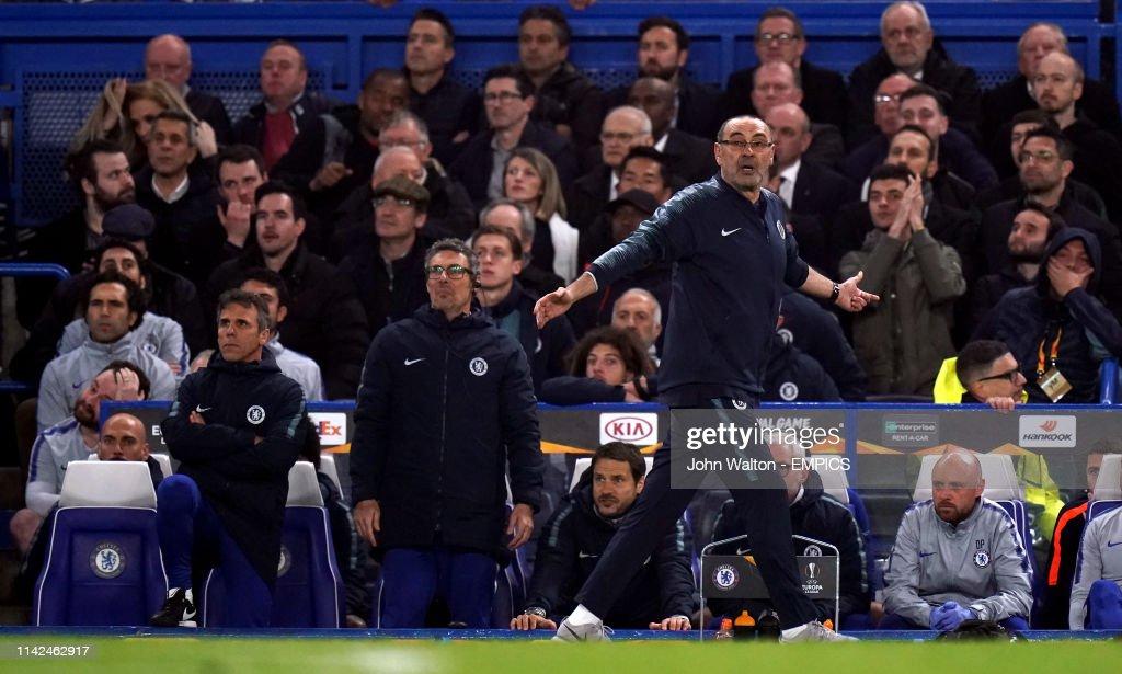 Chelsea v Eintracht Frankfurt - UEFA Europa League - Semi Final - Second Leg - Stamford Bridge : News Photo