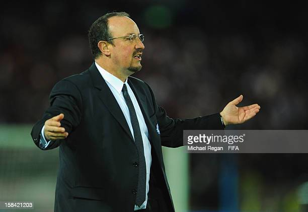 Chelsea manager Rafael Benitez looks on during the FIFA Club World Cup Final Match between Corinthians and Chelsea at the International Stadium...