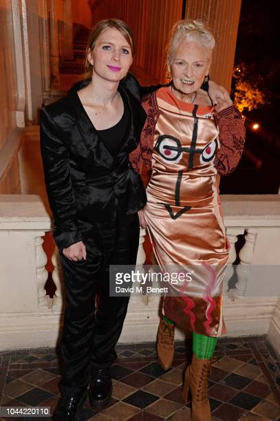 Chelsea Manning and Dame Vivienne Westwood attend attends the annual Friends Of The Institute of Contemporary Arts dinner in honour of Chelsea...