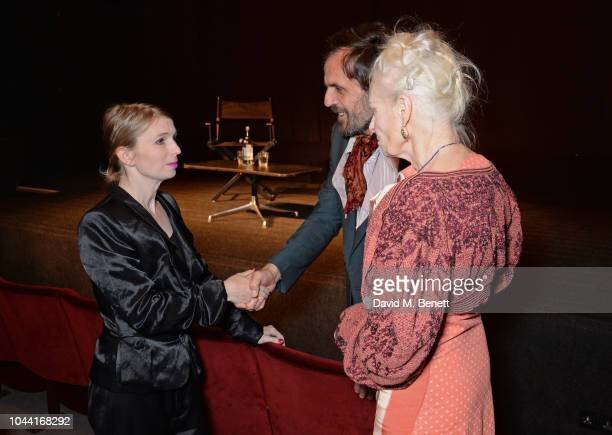 Chelsea Manning, Andreas Kronthaler and Dame Vivienne Westwood attend the annual Friends Of The Institute of Contemporary Arts dinner in honour of...
