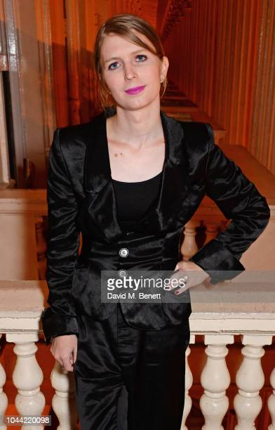 Chelsea Manning attends attends the annual Friends Of The Institute of Contemporary Arts dinner in honour of Chelsea Manning at ICA on October 1 2018...