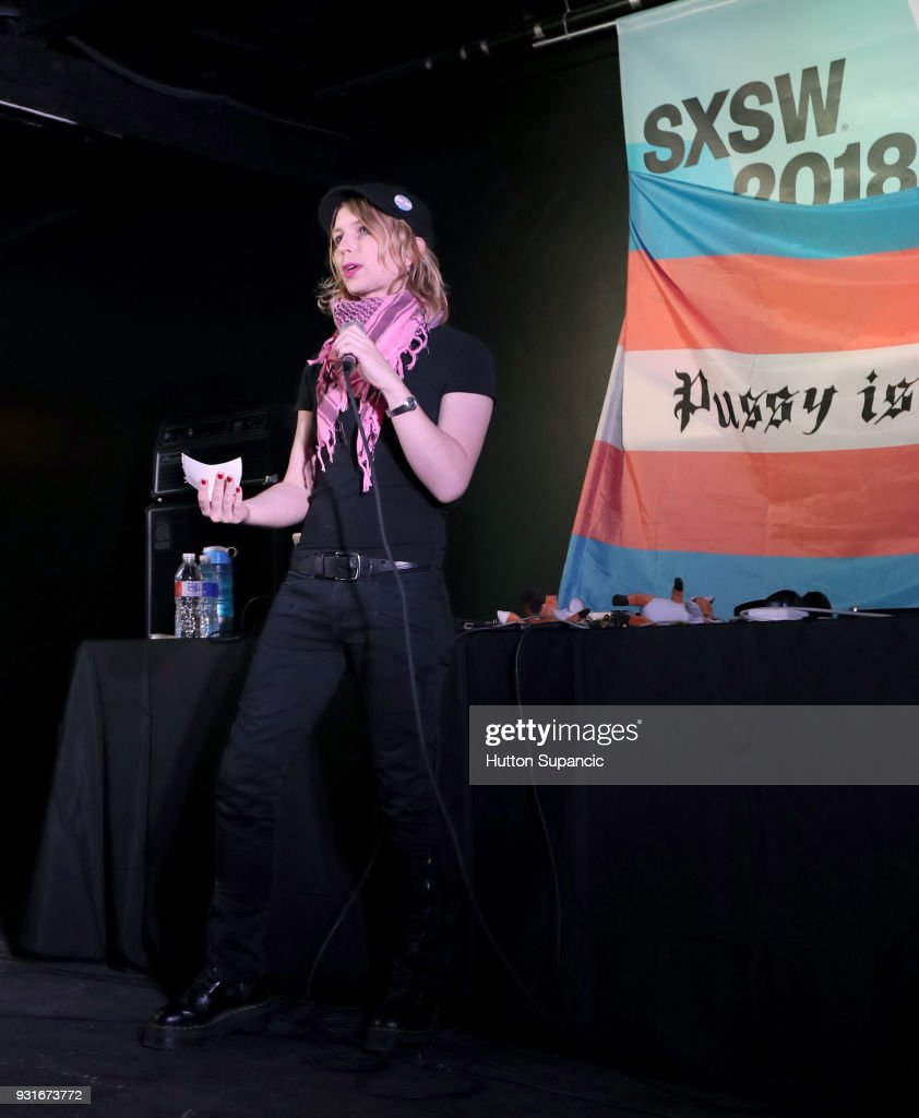 Chelsea Manning introduces Pussy Riot onstage at the Music Opening Party during SXSW at The Main on March 13, 2018 in Austin, Texas.