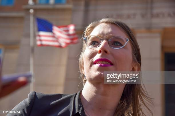 Chelsea Manning leaves the Albert V Bryan US District Courthouse on Tuesday March 5 in Alexandria VA Manning has been subpoenaed to testify before a...
