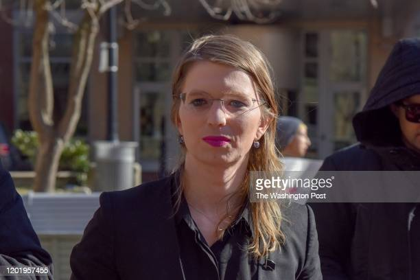 Chelsea Manning prepares to enter the Albert V. Bryan U.S. District Courthouse on Tuesday, March 5 in Alexandria, VA. Manning has been subpoenaed to...
