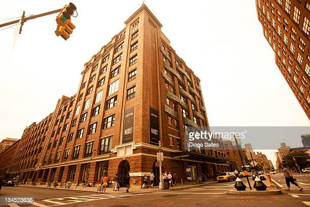chelsea market building - chelsea new york stock photos and pictures