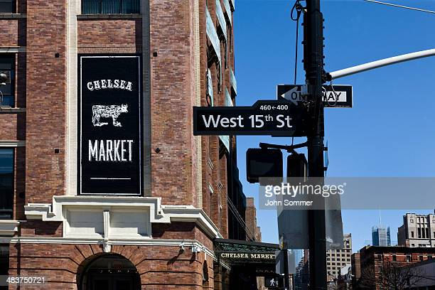 chelsea market in new york, ny - chelsea stock pictures, royalty-free photos & images