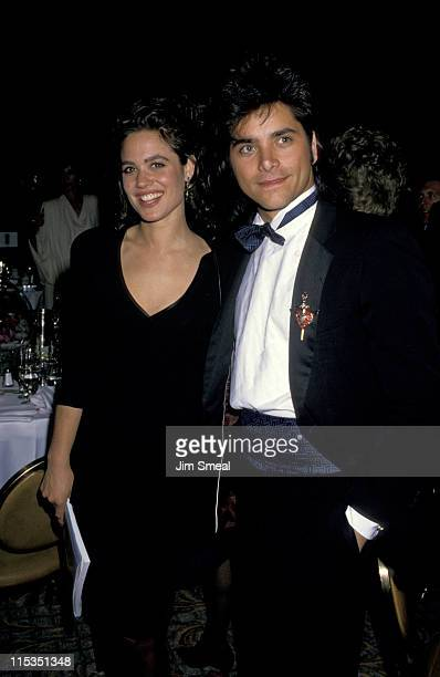 Chelsea Noble and John Stamos during 1988 Annual Starlight Foundation Annual Humanitarian Awards Honoring Barry Manilow at Century Plaza Hotel in Los...