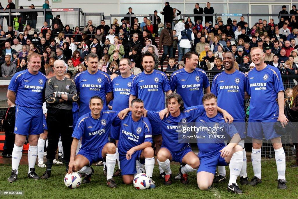 Chelsea Old Boys Team Group Back Row L R Kerry Dixon Peter Bonetti