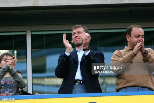 Chelsea owner Roman Abramovich before the FA Barclays Premiership match between Chelsea and Charlton Athletic held on May 7 2005 at Stamford Bridge...