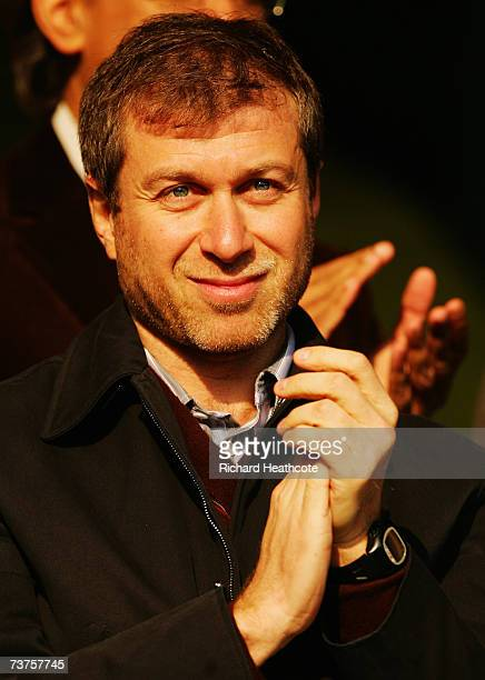 Chelsea owner Roman Abramovich watches from the stand during the Barclays Premiership match between Watford and Chelsea at Vicarage Road on March 31...