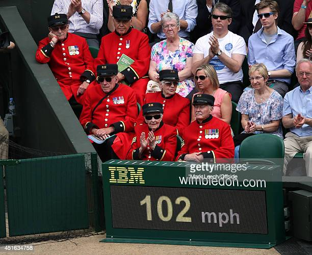 Chelsea pensioner during the Men's Singles Second Round match between Rafael Nadal of Spain and Lukas Rosol of Czech Republic on day 4 of the...
