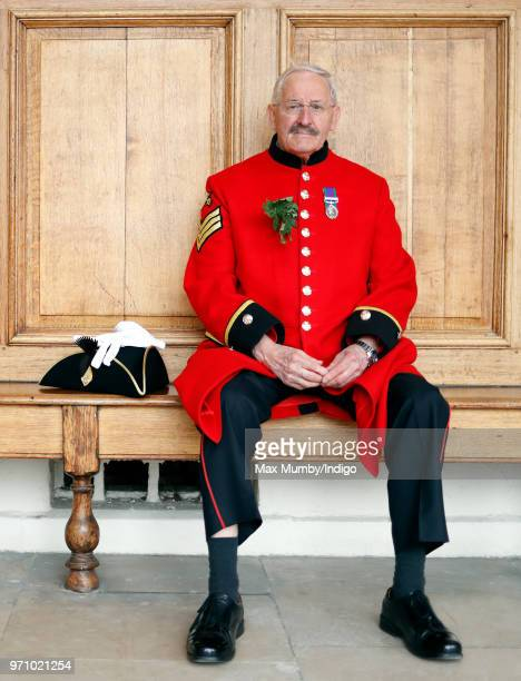 Chelsea Pensioner prepares to take part in the annual Founder's Day Parade at the Royal Hospital Chelsea on June 7, 2018 in London, England....