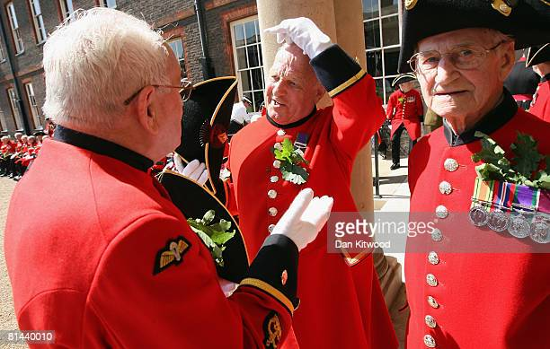Chelsea Pensioners attend 'Founders Day Parade' at Chelsea Royal Hospital, on June 5, 2008 in London, England. The Royal Hospital Chelsea, a home for...