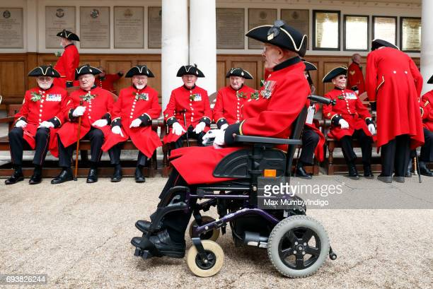 Chelsea Pensioners attend the annual Founder's Day Parade at the Royal Hospital Chelsea on June 8 2017 in London England