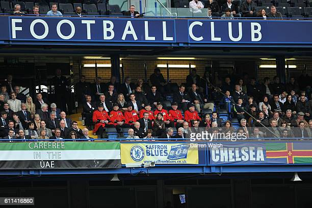 Chelsea pensioners during the Barclays Premier League match between Chelsea and Stoke City at Stamford Bridge on March 10, 2012 in London, England.