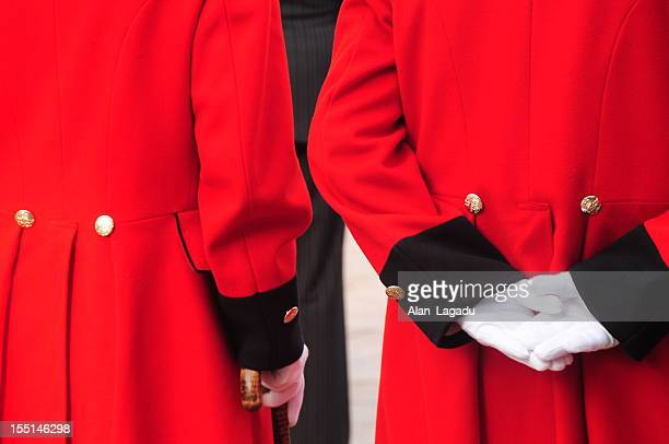 chelsea pensioners, jersey. - chelsea pensioner stock pictures, royalty-free photos & images