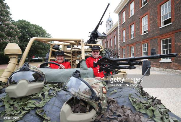 Chelsea pensioners Monica Parrott who drove Land Rover vehicles in the Women's Royal Army Corps between 19641966 whilst stationed in Aldershot and...