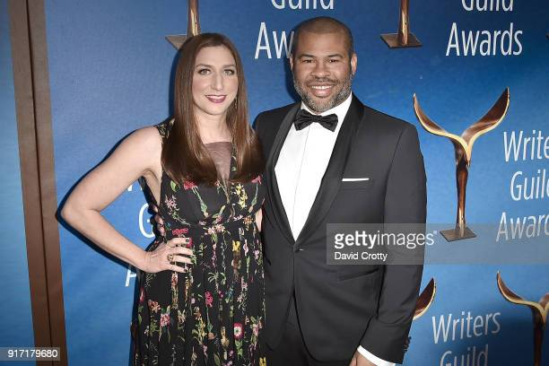 Chelsea Peretti and Jordan Peele attend the 2018 Writers Guild Awards LA Ceremony at The Beverly Hilton Hotel on February 11 2018 in Beverly Hills...