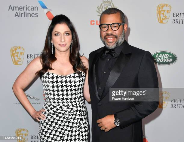 Chelsea Peretti and Jordan Peele attend the 2019 British Academy Britannia Awards presented by American Airlines and Jaguar Land Rover at The Beverly...