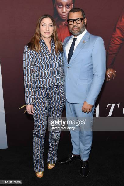 Chelsea Peretti and Jordan Peele attend the US premiere at Museum of Modern Art on March 19 2019 in New York City