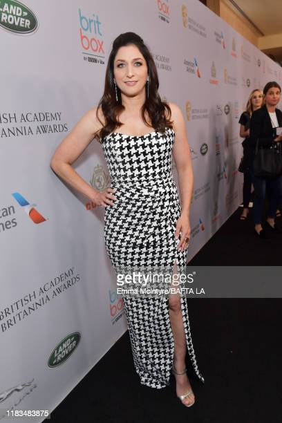 Chelsea Peretti attends the 2019 British Academy Britannia Awards presented by American Airlines and Jaguar Land Rover at The Beverly Hilton Hotel on...