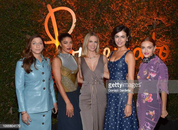 HILLS CALIFORNIA OCTOBER Chelsea Peretti Jessica Szohr January Jones Camilla Belle and Madeline Brewer attend the Pomellato store opening with Chiara...