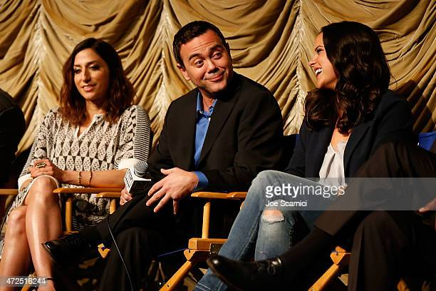 Chelsea Peretti Joe Lo Truglio and Melissa Fumero attend the Film Independent Presents An Evening WithBrooklyn NineNine at LACMA on May 7 2015 in Los...