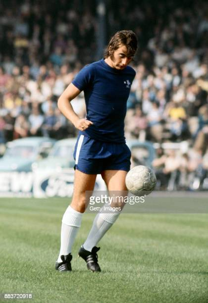 Chelsea player Alan Hudson in action during a First Division match at Stamford Bridge circa 1971 in London England