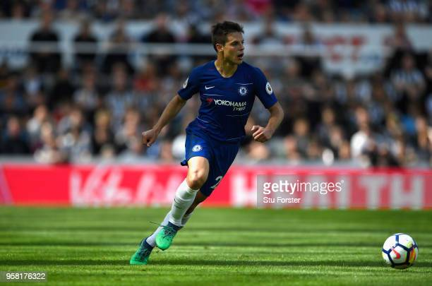 Chelsea player Cesar Azpilicueta in action during the Premier League match between Newcastle United and Chelsea at St James Park on May 13 2018 in...