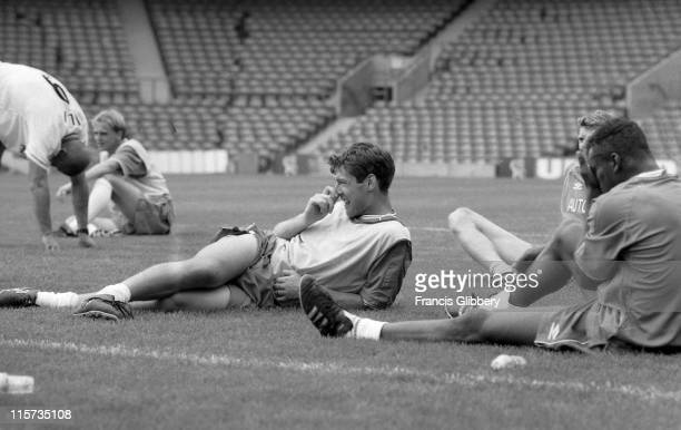 Chelsea player Chris Sutton during a PreSeason training session held in August 1999 at Stamford Bridge in London