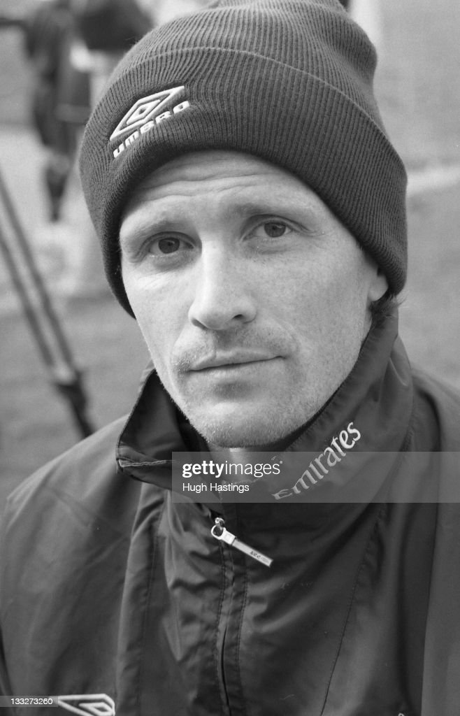Chelsea player Emmanuel Petit poses for a portrait session held during the 2002/03 Pre-Season in August 2002 at Chelsea FC's training ground at Harlington, in London, England.
