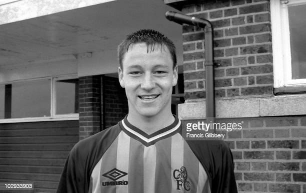 Chelsea player John Terry poses in a training session held in the 1998/99 season at Harlington in London England