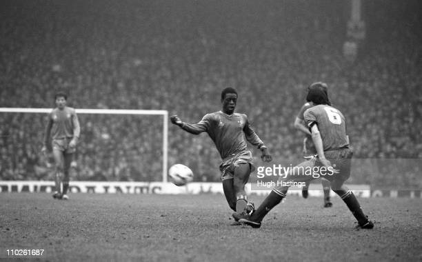 Chelsea player Keith Jones in action during the Division 1 match between Liverpool and Chelsea at Anfield on November 30 1985 in LiverpoolEngland The...