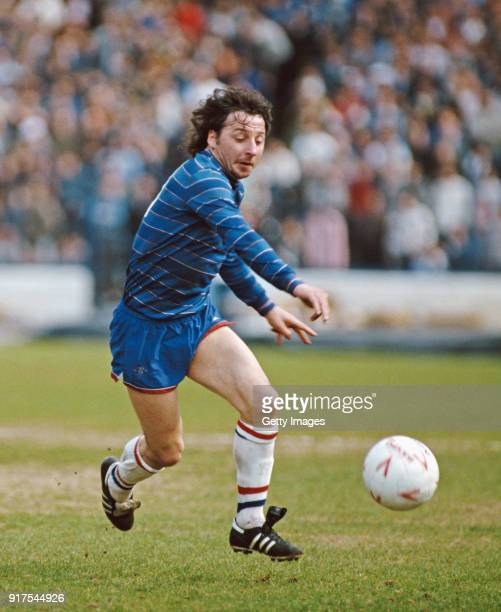 Chelsea player Michael Thomas in action during a Division One match against QPR at Stamford Bridge on April 6 1985 in London England