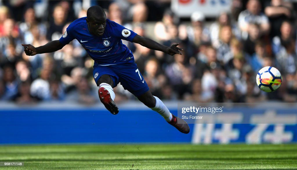 Chelsea player N'Golo Kante in action during the Premier League match between Newcastle United and Chelsea at St. James Park on May 13, 2018 in Newcastle upon Tyne, England.