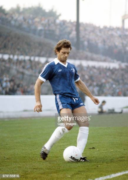 Chelsea player Ray Wilkins in action during a First Divsion match against Bolton Wanderers at Stamford Bridge on October 14 1978 in London England...