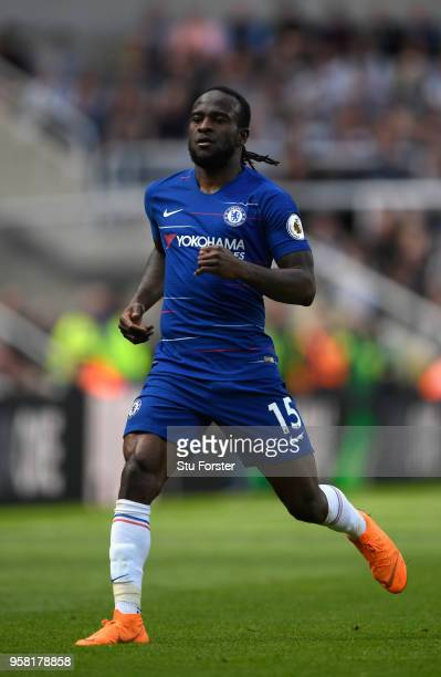 Chelsea player Victor Moses in action during the Premier League match between Newcastle United and Chelsea at St James Park on May 13 2018 in...