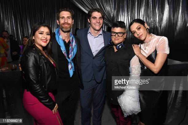 """Chelsea Rendon, Evan Hart, RJ Mitte, Ser Anzoategui, and Mishel Prada attend the """"Now Apocalypse"""" Los Angeles Premiere after party at Hollywood..."""