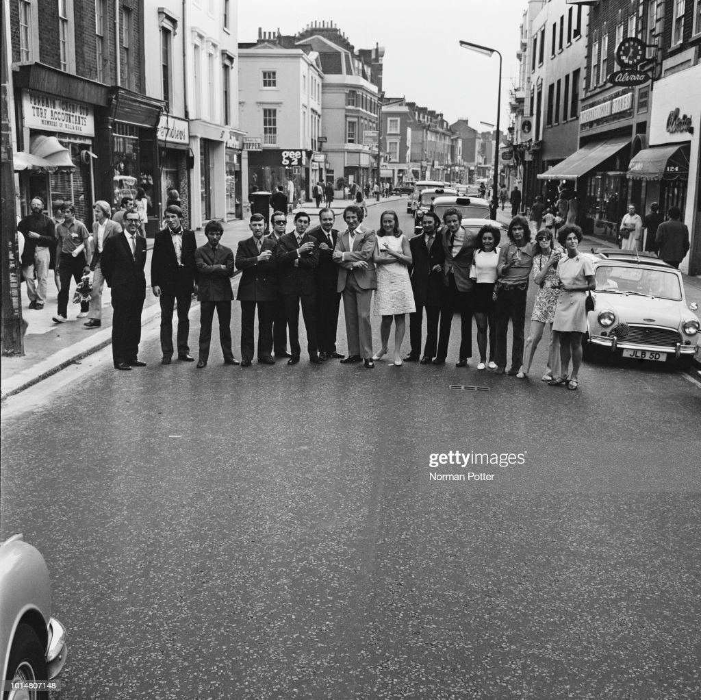 Chelsea shop owners on Kings Road, London, UK, 2nd August 1969: they
