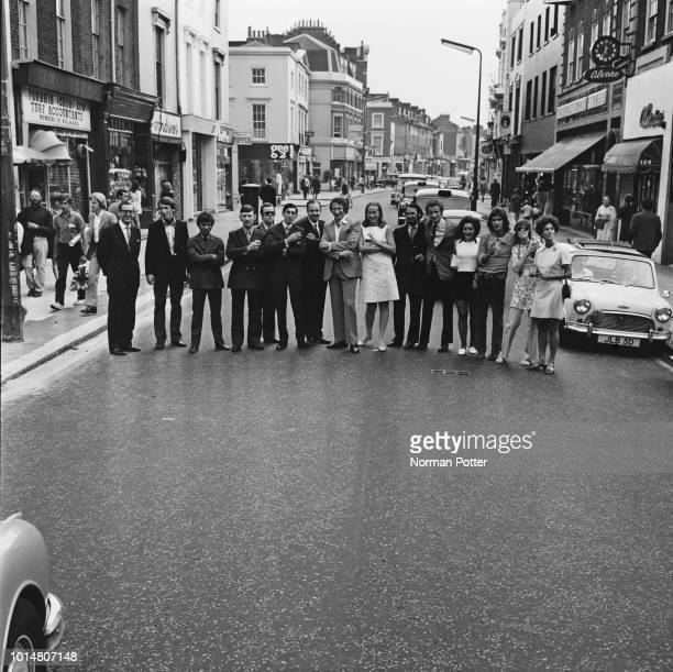 Chelsea shop owners on Kings Road London UK 2nd August 1969 they are Ivor Silverstone John Sainsbury Robert Fielding Jim Carter Peter Fenton Anges...