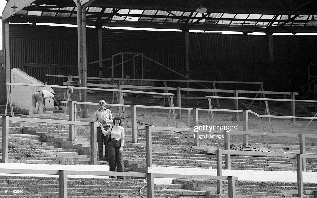 Chelsea staff in The Shed, with summer repairs underway behind ...