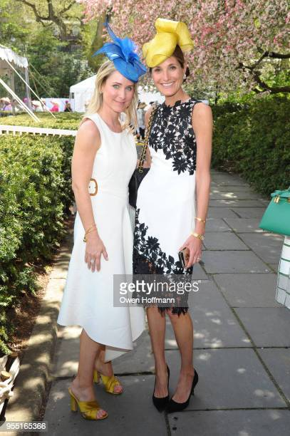 Chelsea Staniar and Claire Salvatore attend 36th Annual Frederick Law Olmsted Awards Luncheon Central Park Conservancy at The Conservatory Garden in...