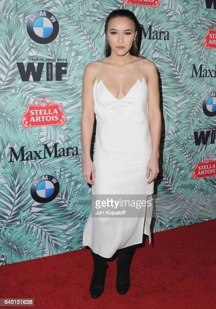 Chelsea Stone arrives at the 10th Annual Women In Film Pre-Oscar Cocktail Party at Nightingale Plaza on February 24, 2017 in Los Angeles, California.