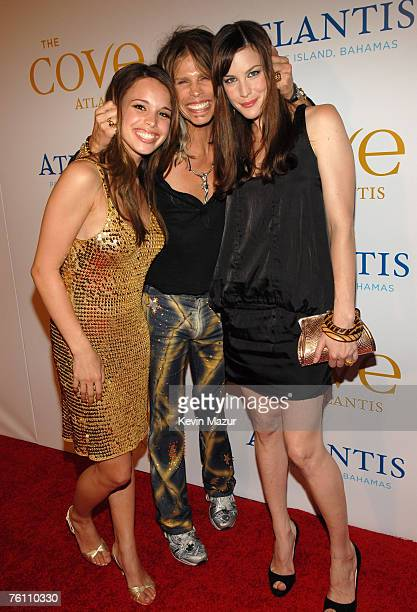Chelsea Tallarico her father Steven Tyler and daughter Liv Tyler